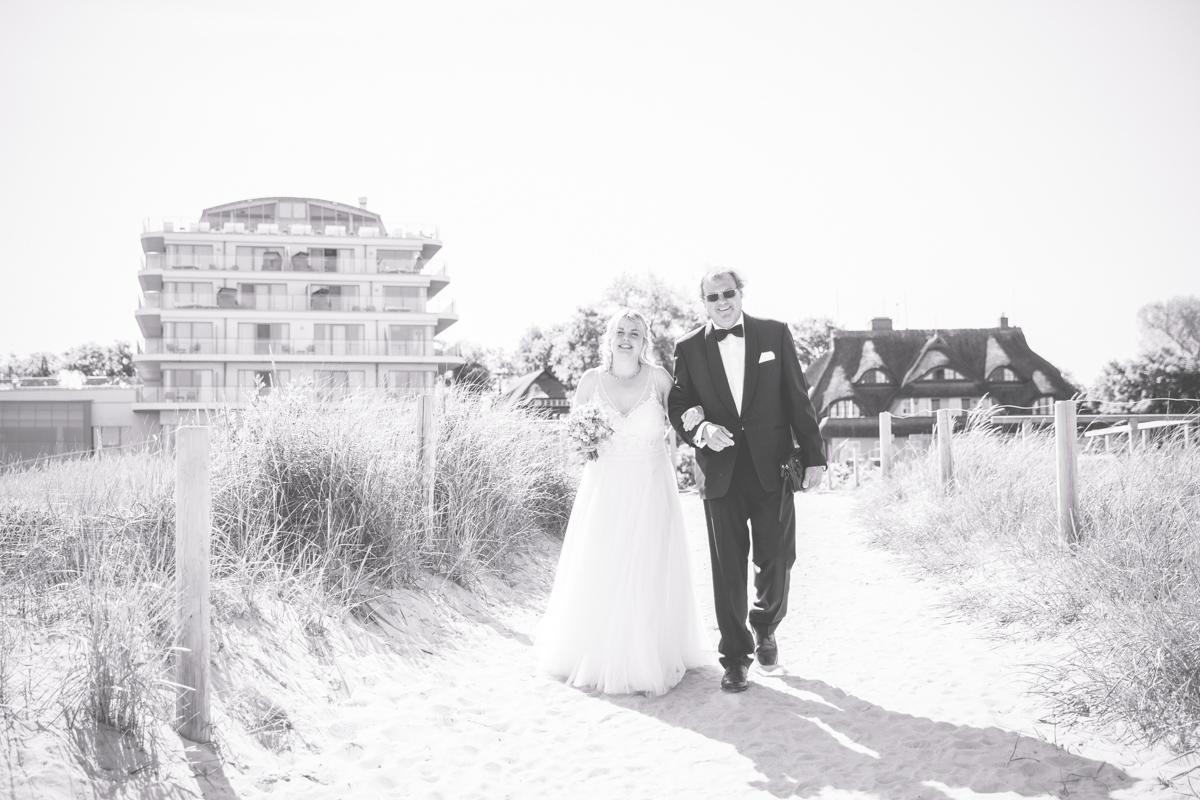 Hochzeitsfeier im The Grand Hotel in Ahrenshoop.