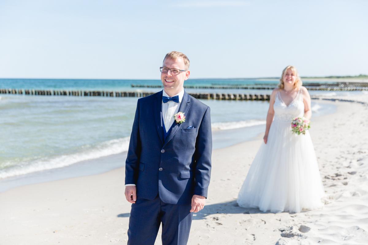 Das Brautpaar sieht sich am Strnad zum ersten Mal.