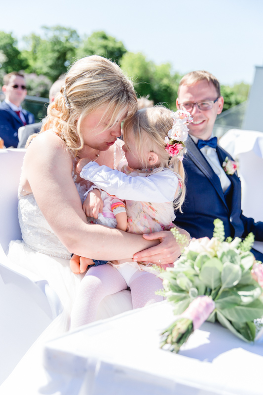 Hochzeit mit Kind.