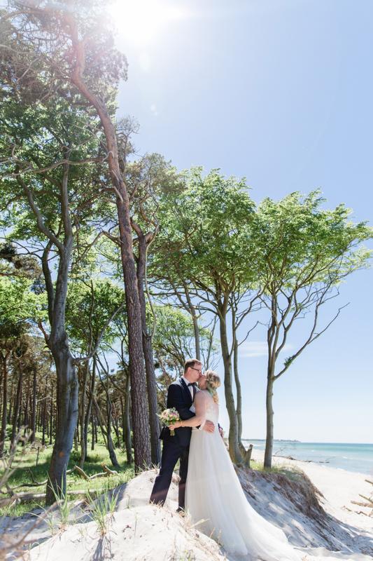 Hochzeitsfotos aufgenommen am Weststrand.