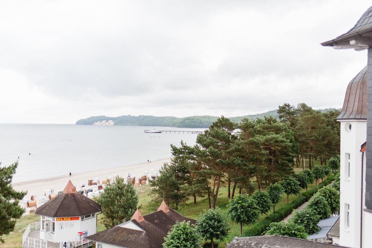 Ausblick auf den Strand von Binz.