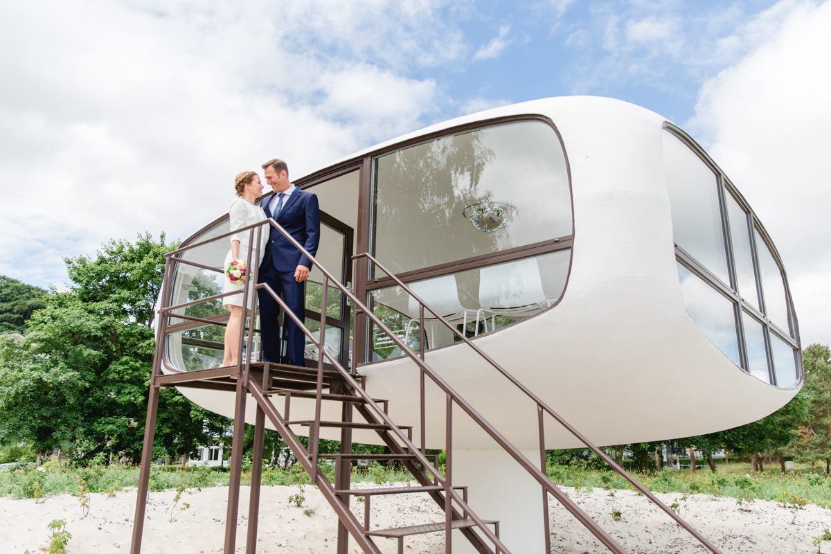 Heiraten im ehemaligen Rettungsturm in Binz auf Rügen.
