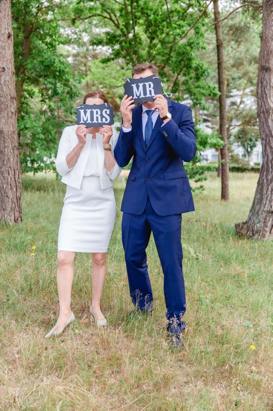 Hochzeitsfotos aufgenommen in Binz.