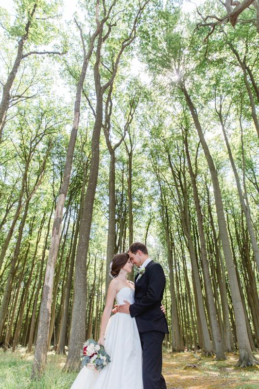 Fotoshooting mit einem Brautpaar im Gespensterwald.