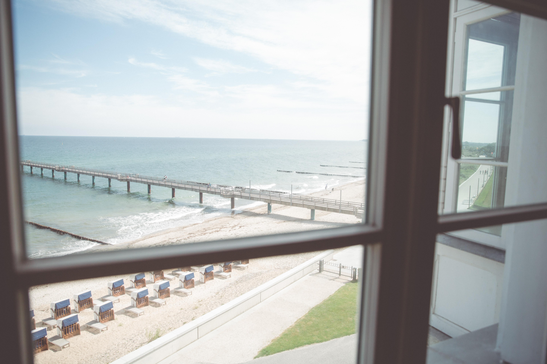 Ausblick aus dem Hotelzimmer im Heiligendamm.