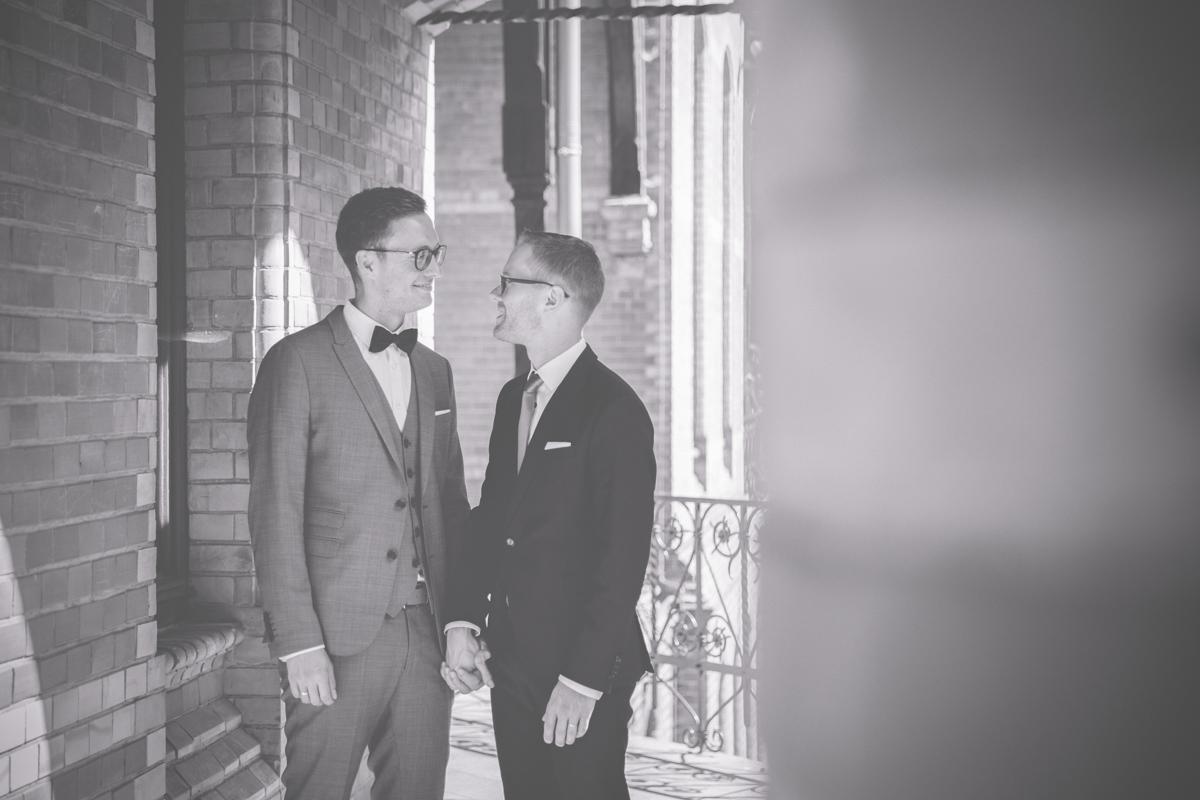 Hochzeitsfotos gleichgeschlechtliches Paar.