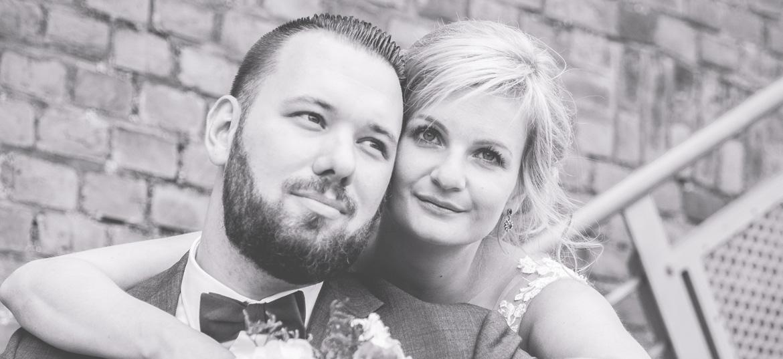 Brautpaarfoto aufgenommen in Stralsund.