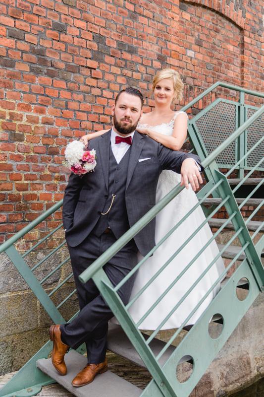 Hochzeitsfoto aufgenommen am Hafen von Stralsund.