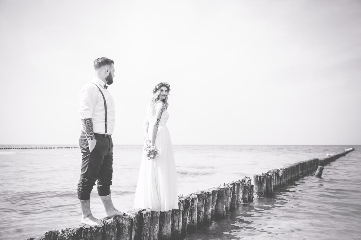 Heiraten an der Ostsee, direkt am Strand.