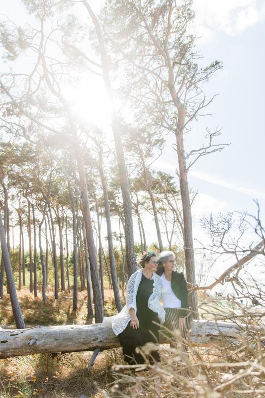 Hochzeitsfotoshooting am Weststrand.