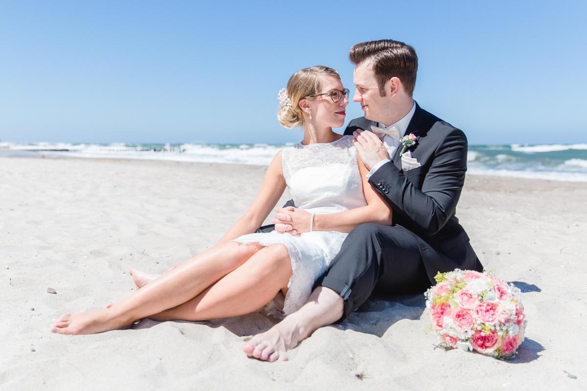 Hochzeitsfotoshooting am Strand.