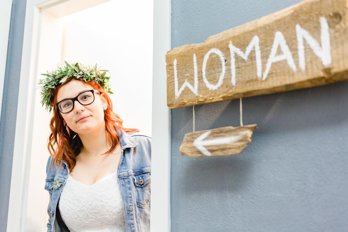 Hochzeitsfotos einer lesbischen Hochzeit.