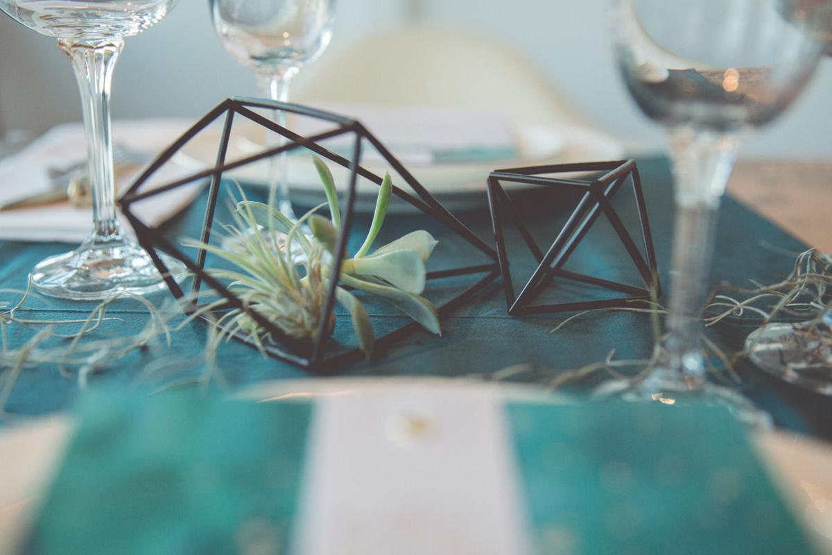 Detailfoto der Hochzeitsdekoration.