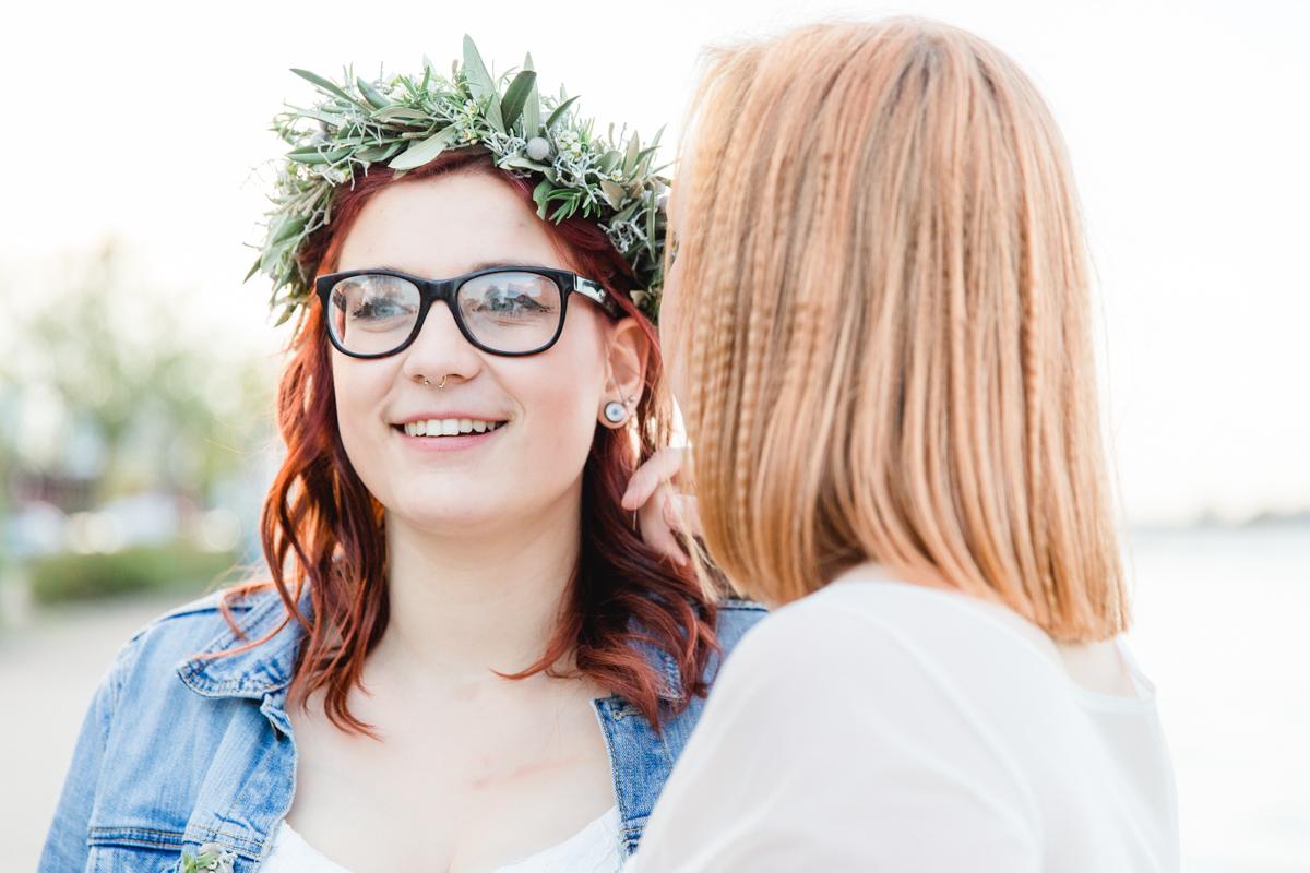 Hochzeitsfoto einer samesexmarriage.