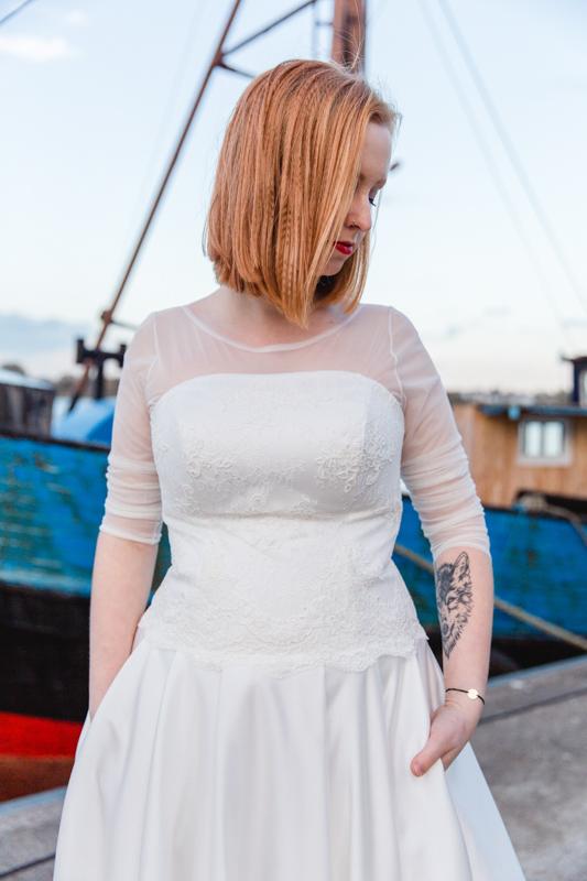 Hochzeitsfotoshooting im Stadthafen in Rostock.