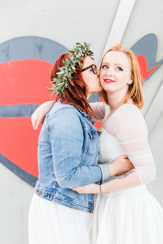 Brautpaarfotoshooting vorm Aida-Mund.