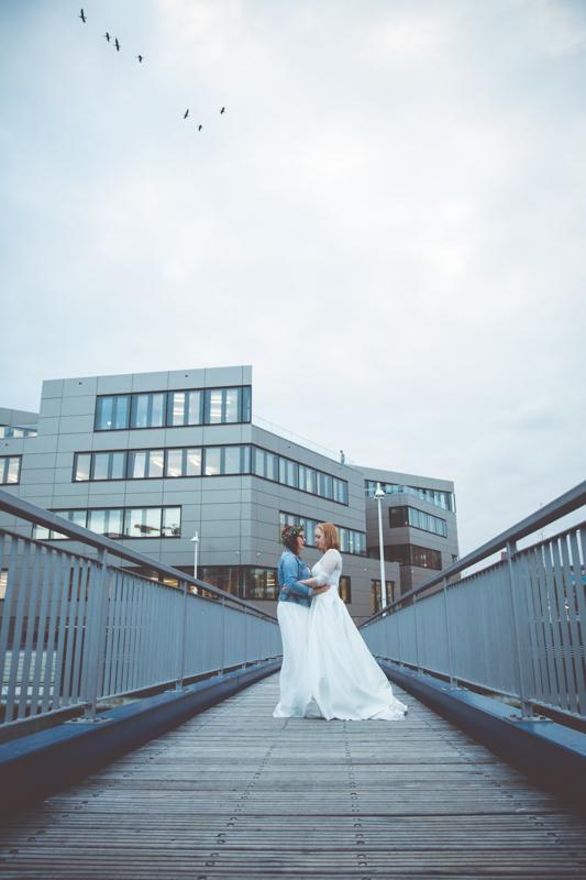 Brautpaarshooting auf der Rostocker Holzhalbinsel.