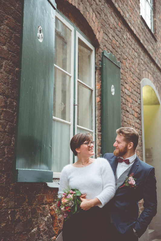 Brautpaar beim Shooting in Lübeck.