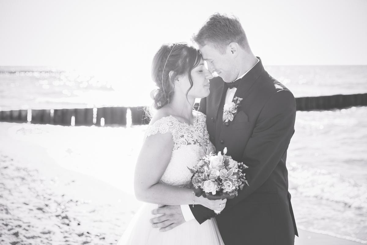 Foto einer Heirat an der Ostsee.