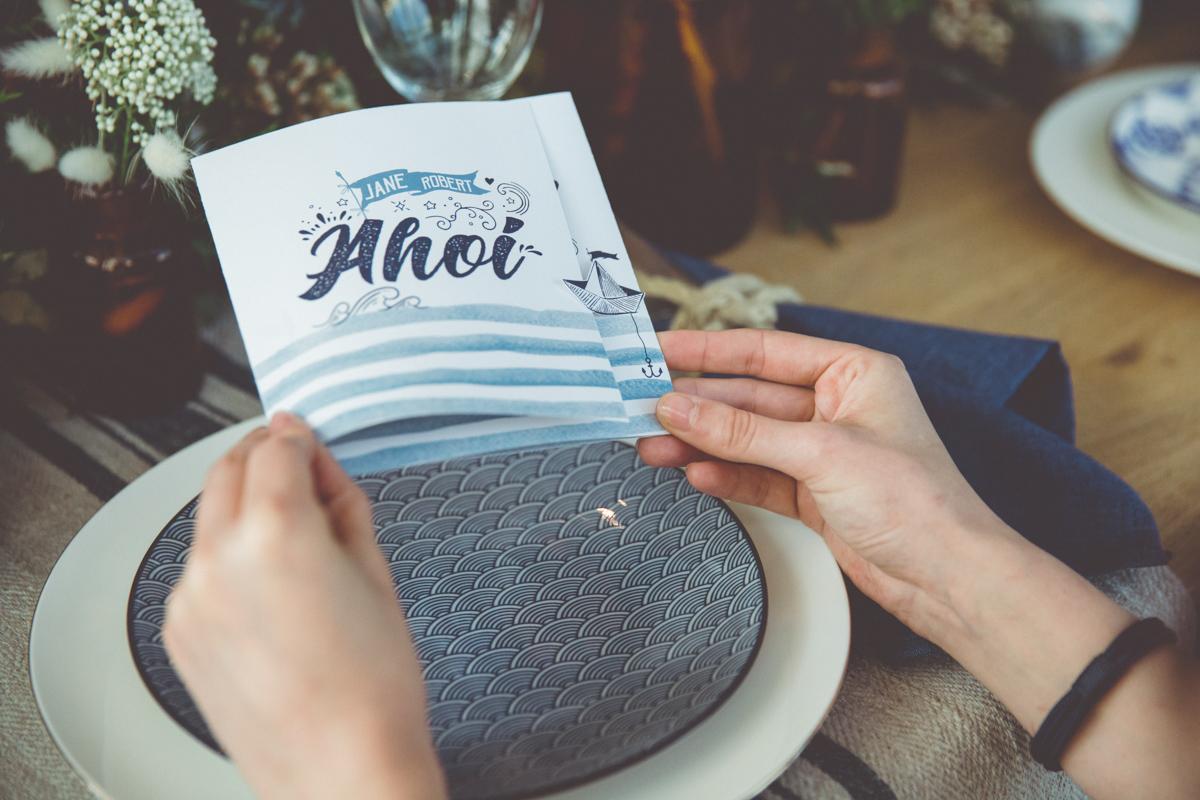 Hochzeitskarte Ahoi.
