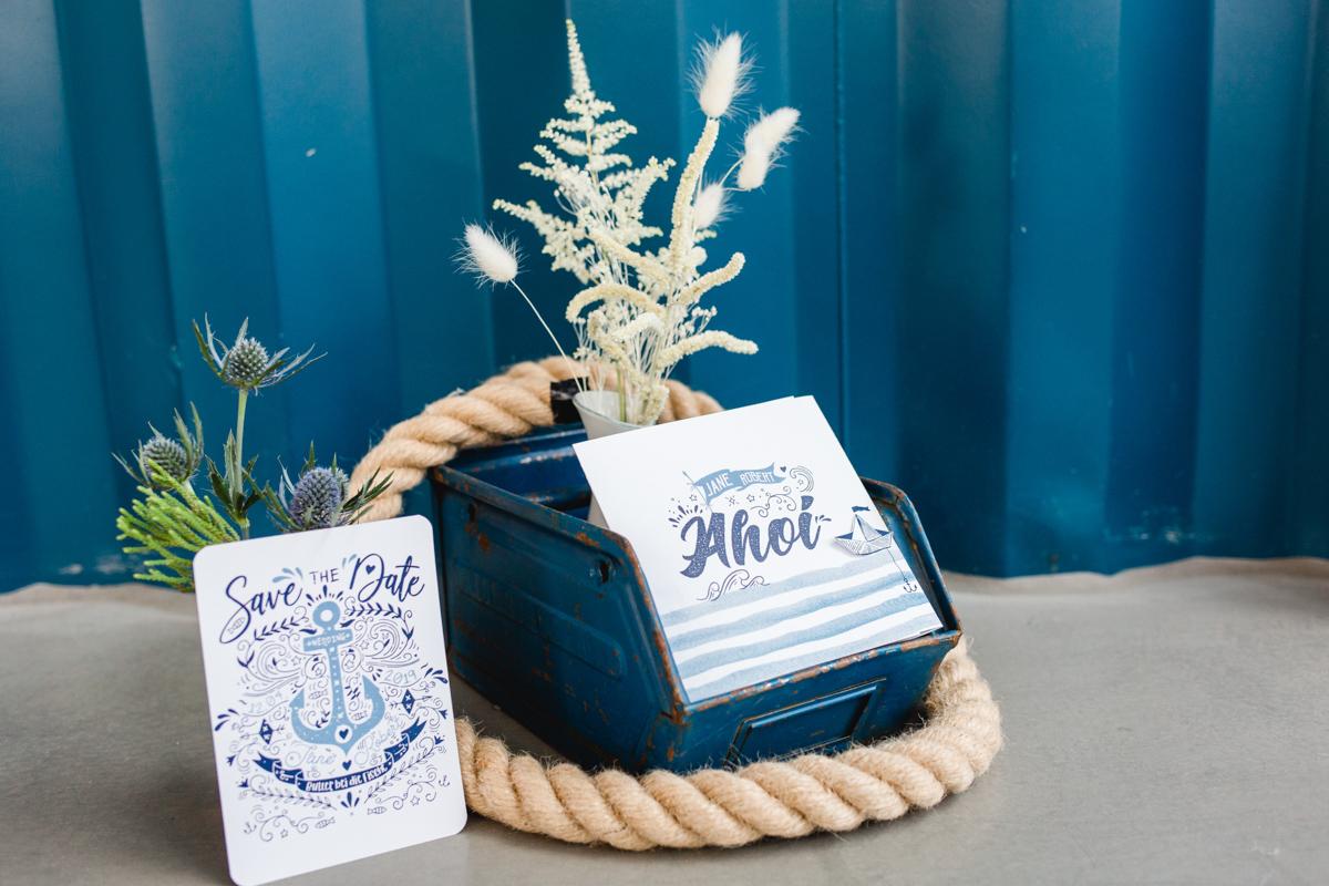 Ideen maritime Hochzeitspapeterie