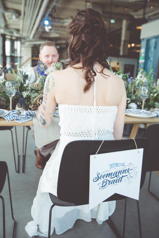 Hochzeitspapeterie im maritimen Stil.