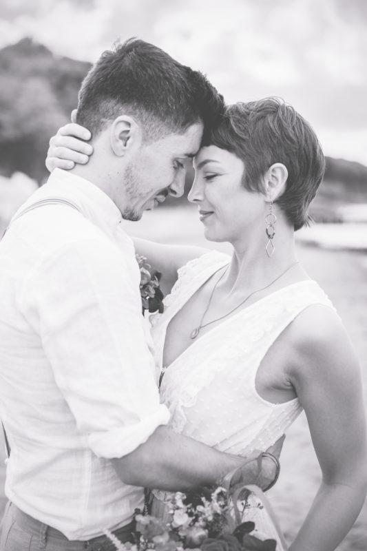 Hochzeitsfotos einer wundervollen Strandhochzeit.