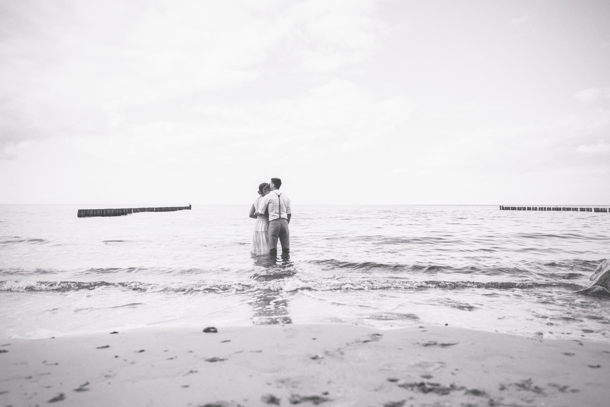 Brautpaarfotoshooting in der Ostsee.